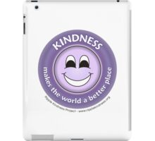 Kindness Makes the World a Better Place - Purple T-shirt iPad Case/Skin