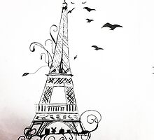 Eiffel Tower Sketch by MadVonD