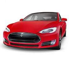 Tesla Model S luxury electric car art photo print by ArtNudePhotos