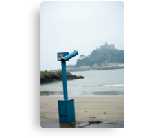 St Michaels Mount in the mist Canvas Print