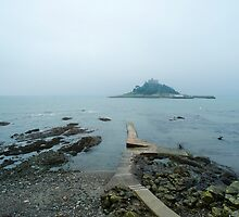 St Michaels Mount on a misty day by photoeverywhere
