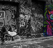 Hosier Lane Laptop Dude by claireh