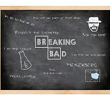"Breaking Bad inspired ""Walter doodles on his chalkboard"" by geektique"