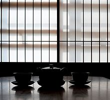 japanese tea slhouette by photoeverywhere