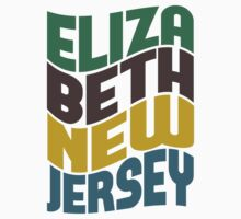 Elizabeth New Jersey Retro Wave by Location Tees