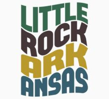 Little Rock Arkansas Retro Wave by Location Tees