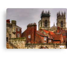 The rooftops of York Canvas Print