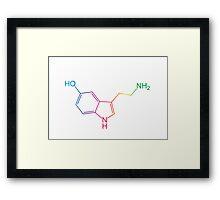 Serotonin, Rainbow Framed Print