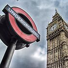 London Underground and Big Ben by Scott Anderson