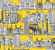 New York yellow (card) by Sharon Turner