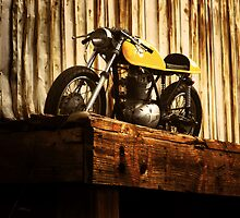 Cafe Racer on the Loading Dock by Kyle Yarrington