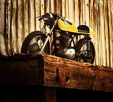 Cafe Racer on the Loading Dock by Kyle Yarrington