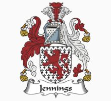 Jennings Coat of Arms / Jennings Family Crest by William Martin