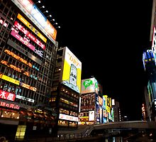 Dotonbori canal at night by photoeverywhere
