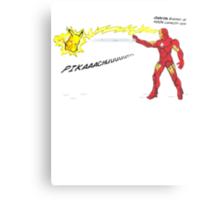 Ironman vs. Pikachu Metal Print