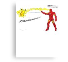 Ironman vs. Pikachu Canvas Print