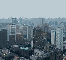 illustrated cityscape by photoeverywhere
