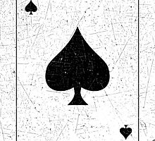 Vintage Look Ace of Spades Playing Card Graphic by VintageSpirit