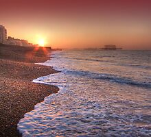 Brighton Seafront Sunrise 2 - HDR by Colin J Williams Photography