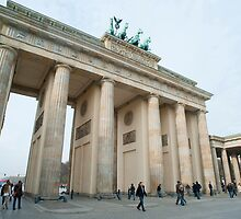 Daylight view of the Brandenburg Gate, Berlin by photoeverywhere