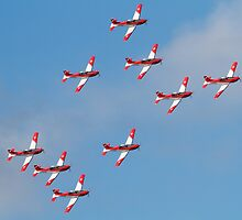 Swiss Air Force display team by Mike Rivett