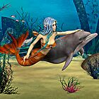 Mermaid and Dolphin by Vac1