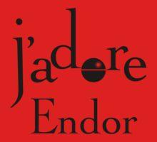 J'adore Endor - Black by pixelsbynumber