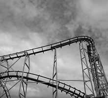 At Hastings, roller coaster 2 by Gabriele Maurus
