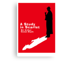 A Study in Scarlet Book Cover Canvas Print