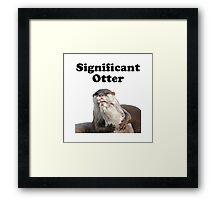 Significant Otter Framed Print