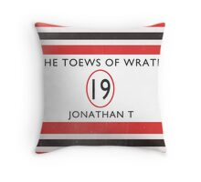 Toews Of Wrath Book Cover Throw Pillow