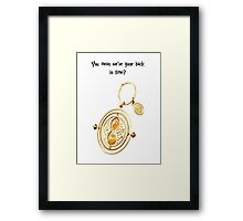 Time turner Framed Print