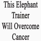 This Elephant Trainer Will Overcome Cancer  by supernova23