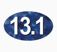 Unique 13.1 Sticker Blue by robotface