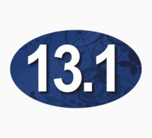 Fancy 13.1 Sticker Blue by robotface
