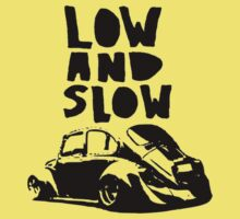 vw beetle low and slow design car euro t shirt by lowgrader