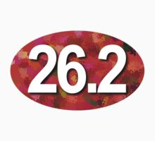Unique 26.2 Oval Sticker - RED by robotface