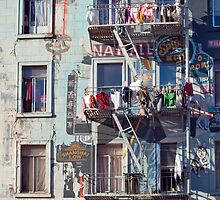 north beach hanging laundry by photoeverywhere