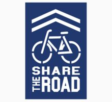 Share the Road Sticker - Blue Version by robotface