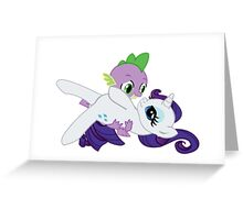 Spike and Rarity Greeting Card