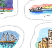 Australia- Capital Cities Sticker