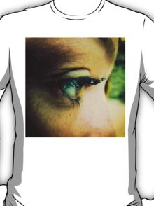 Water Droplets on Eyelashes T-Shirt