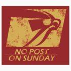 No Post On Sunday STICKER! by Punksthetic