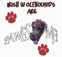 Irish Wolfhounds are Pawesome Awesome by THarmonArt