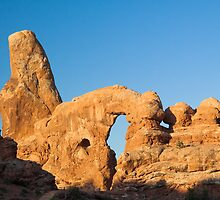 Turret Arch in Morning Light by Kenneth Keifer