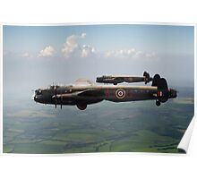 Lancasters AJ-G and AJ-N carrying Upkeeps Poster