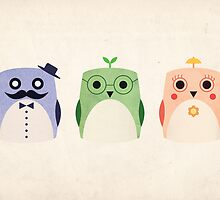 Owl Family by Jamie Min