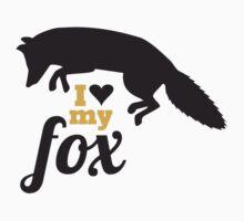 I love my fox by blackestdress
