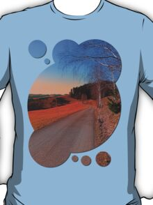 Country road into a beautiful sunset at Auberg | landscape photography T-Shirt