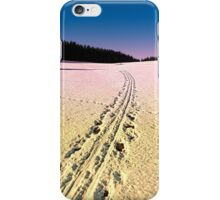 Cross country skiing | winter wonderland | landscape photography iPhone Case/Skin